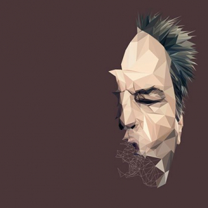 Jack Nicholson – Low poly by Paul DOUARD