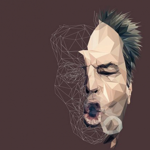 Jack Nicholson – Low poly by Paul DOUARD2