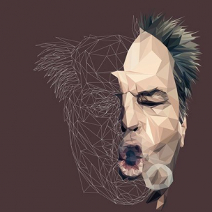 Jack Nicholson – Low poly by Paul DOUARD3