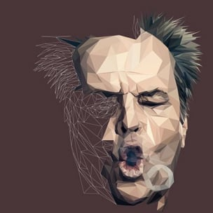 Jack Nicholson – Low poly by Paul DOUARD4