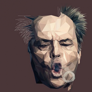 Jack Nicholson – Low poly by Paul DOUARD5