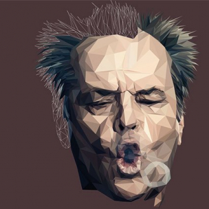 Jack Nicholson – Low poly by Paul DOUARD6