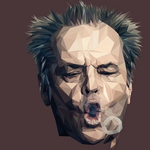 Jack Nicholson – Low poly by Paul DOUARD7
