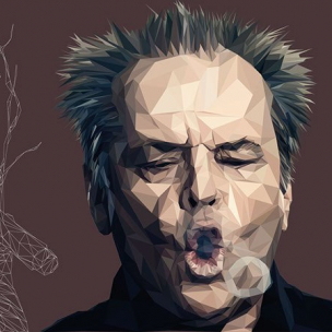 Jack Nicholson – Low poly by Paul DOUARD8