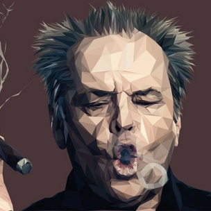 Jack Nicholson – Low poly by Paul DOUARD9
