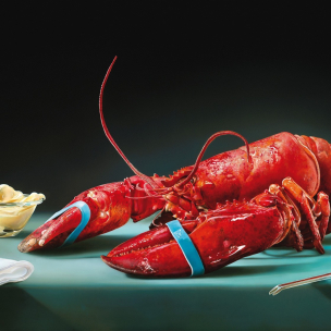 the lobster/de kreeft painting by tjalf sparnaay