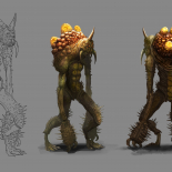 creature concept art pergamen + sketch version