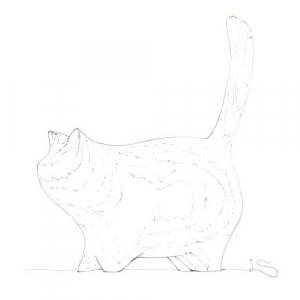 tlustá kočka velká péro